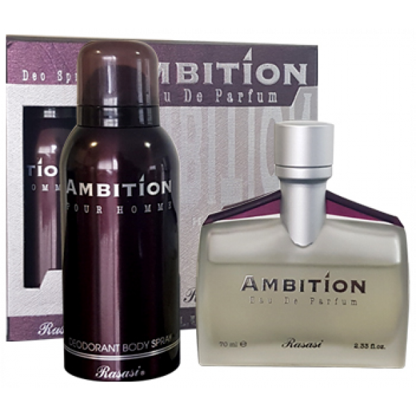 Ambition edp with deo gift pack - rasasi